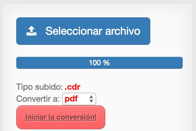 Convertir CDR a PDF online y gratis   convertir-pdf.com