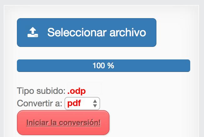 pasar archivo de odt a pdf